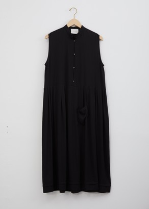 La Garçonne Moderne Mandarin Dress Black