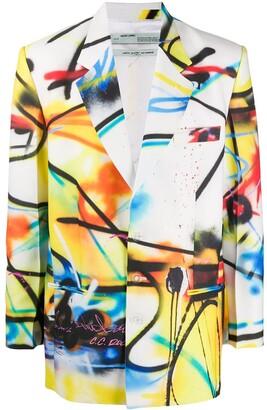 Off-White Futura Spray print oversized blazer