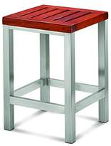 Conair Home ~ The Brooklyn Collection Teak & Stainless Steel Petite Bench