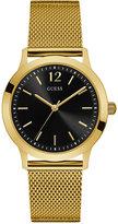 GUESS Men's Classic Gold-Tone Stainless Steel Mesh Bracelet Watch 37mm U0921G3