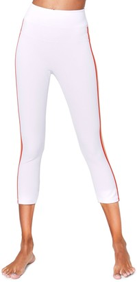 Spiritual Gangster Side-Stripe Cropped Track Tights