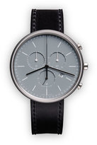 Uniform Wares M40 Women's chronograph watch in polished steel with mist textured calf leather strap