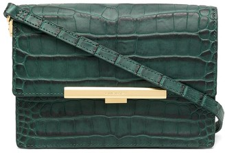 Lancaster Exotic crocodile-effect crossbody bag