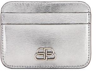 Balenciaga BB Card Holder in Silver   FWRD