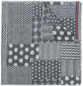 Paul Smith mixed jacquard pattern scarf