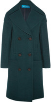 MiH Jeans Richards Double-breasted Wool-blend Coat - Emerald