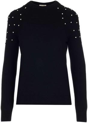 Saint Laurent Embellished Crewneck Sweatshirt