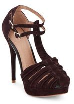 Joie Rexanne T-Strap Suede Platform Sandals