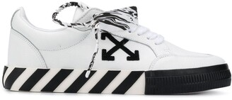 Off-White Vulcanized Lace-Up Sneakers