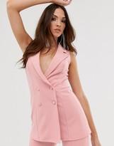 Asos Design DESIGN double breasted sleeveless suit blazer