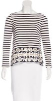 Thakoon Embroidered Striped Top