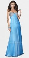 La Femme Electric Purple Rhinestone Sweetheart Prom Dresses