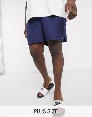 Nike Swimming Plus 5inch Volley shorts in navy