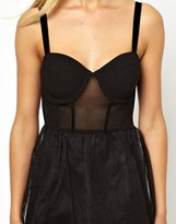 Asos Exclusive Tutu Dress With Corset Top