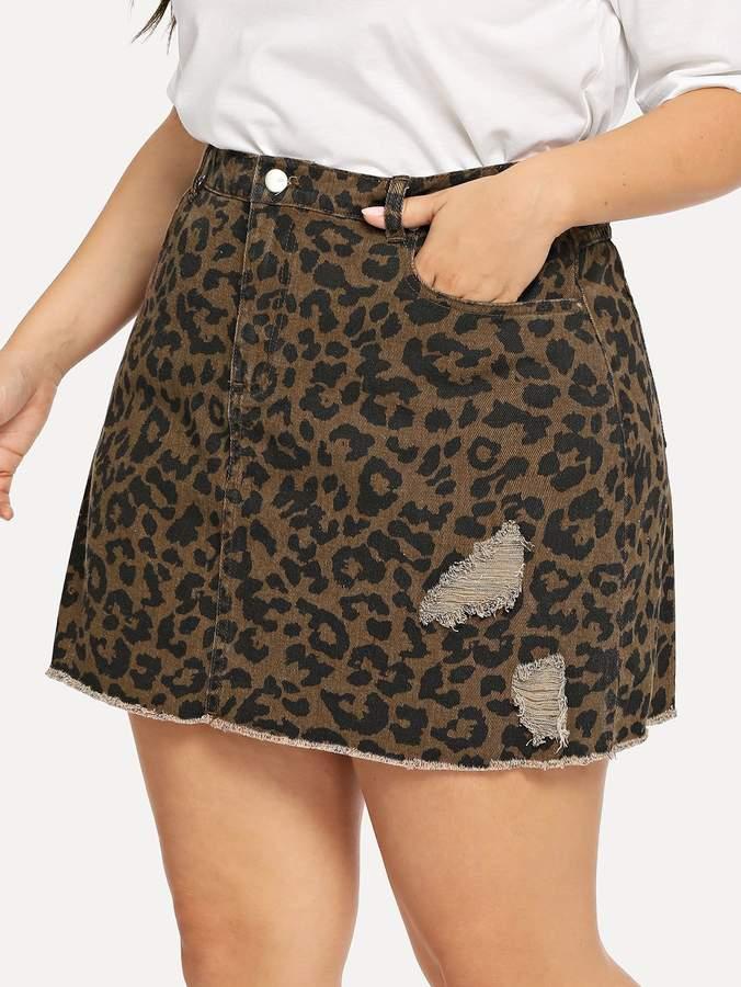 cf8bd8ecf9 Plus Size Denim Skirt - ShopStyle