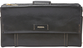 Fossil Ellis Leather Clutch Purse, Black