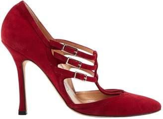 Manolo Blahnik \N Red Suede Heels