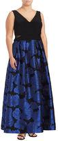 Xscape Evenings Plus Floral Jacquard A-Line Ball Gown