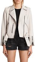 AllSaints Leather Balfern Biker Jacket, White