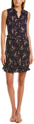 Rebecca Taylor Ivie Ruffle Silk-Blend Mini Dress