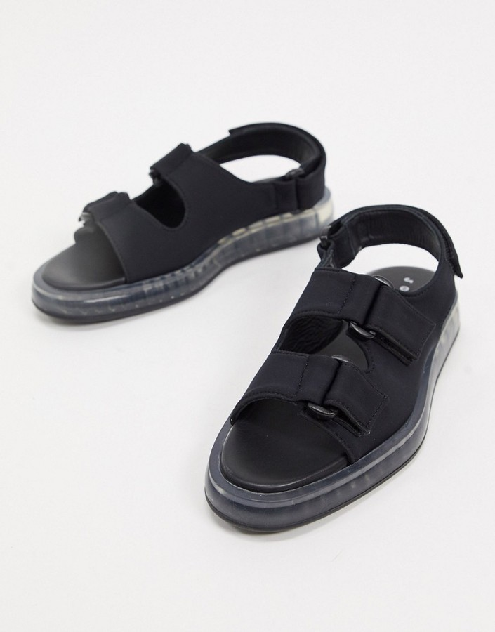 Thumbnail for your product : Joshua Sanders sandal with transparent sole in black
