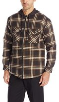 Dickies Men's Quilted Flannel with Fleece Hood