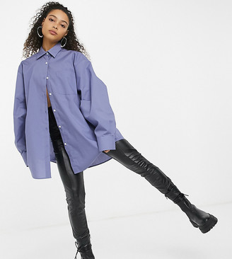 Collusion oversized shirt in blue