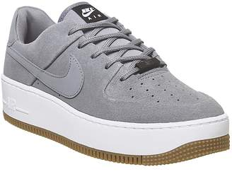 Nike Force 1 Sage Trainers Cool Grey Cool Grey Black