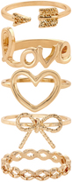 Accessorize Cutesy Bow Stacking Ring Set