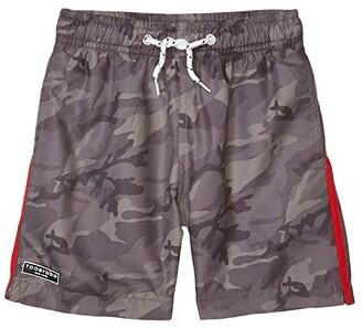 Toobydoo Olive Camo Classic Swim Shorts (Toddler/Little Kids/Big Kids) (Olive) Boy's Swimwear