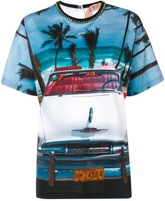 No.21 beach car T-shirt