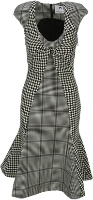 Marine Serre Houndstooth Pattern Dress