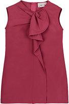 Lanvin TECH-TAFFETA RUFFLE-FRONT DRESS-PINK SIZE 4