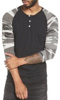 Alternative Men's Three Quarter Sleeve Raglan Henley