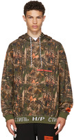 Heron Preston Khaki Camouflage Forest Hoodie