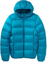 Joe Fresh Women's Hooded Puffer Jacket, Dark Aqua (Size M)