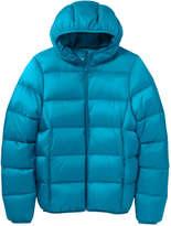 Joe Fresh Women's Hooded Puffer Jacket, Dark Aqua (Size M)