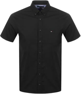 Tommy Hilfiger Short Sleeved Poplin Shirt Black