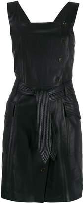 Nanushka belted wrap dress