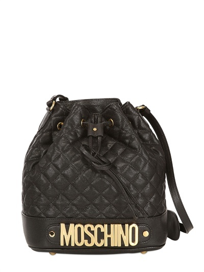 Moschino Rossella Quilted Shoulder Bag