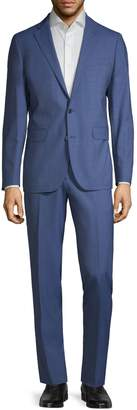 Cole Haan Modern-Fit Plaid Wool-Blend Suit