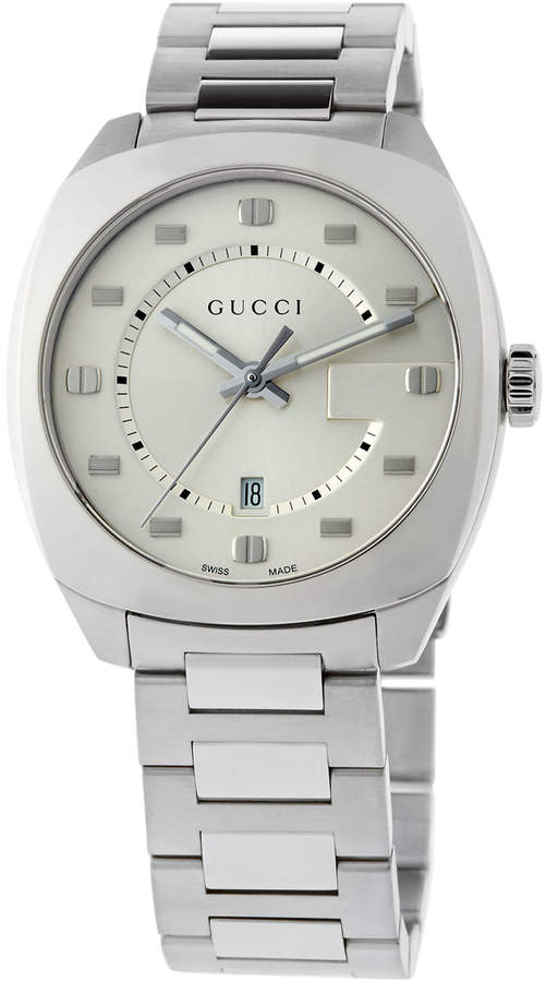 Gucci 41mm Men's Large Stainless Steel Bracelet Watch