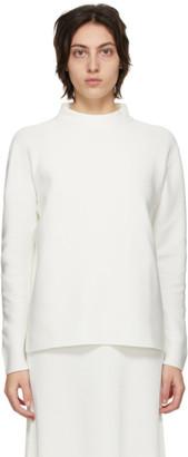 CFCL White Long Sleeve Garter T-Shirt
