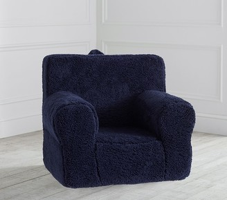 Pottery Barn Kids Navy Cozy Sherpa Anywhere Chair Slipcover Only