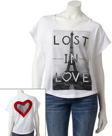 Jerry Leigh lost in love tee - juniors