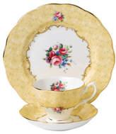 Royal Albert 100 Years 1990 Bouquet Teacup, Saucer & Plate