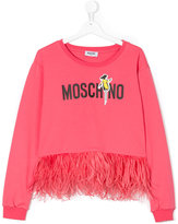 Moschino Kids teen graphic print sweatshirt