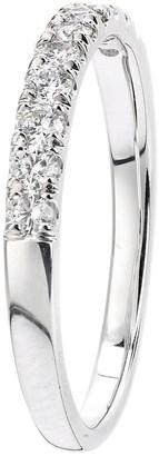 Love Diamond 9ct White Gold 33 Point Micro Setting Eternity Ring