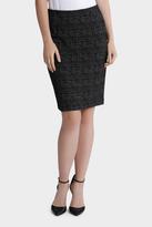 Check Ponte Pencil Skirt
