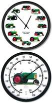 """Typhoon New Oliver 12 Tractors 1926 - 1969 10"""" Wheel Dial Clock + 10"""" Round Oliver 88 Thermometer"""
